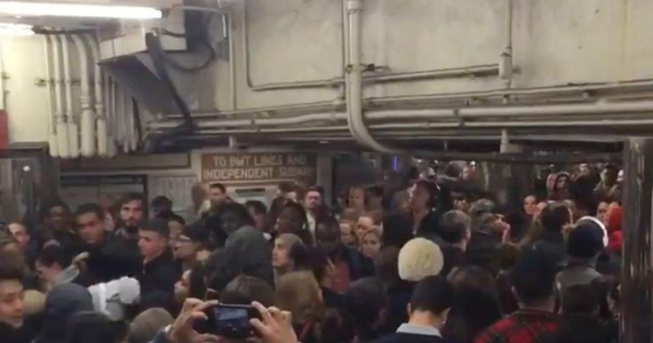 Thanksgiving parade-goers run into chaos at Herald Square station  http://www.nydailynews.com/new-york/manhattan/thanksgiving-paradegoers-run-chaos-herald-square-station-article-1.3653332