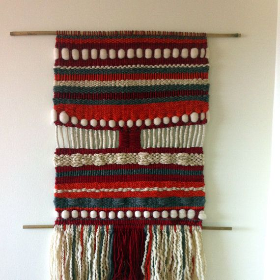 Hand Made Woven wall hanging tapestry by WovenHomeArt on Etsy