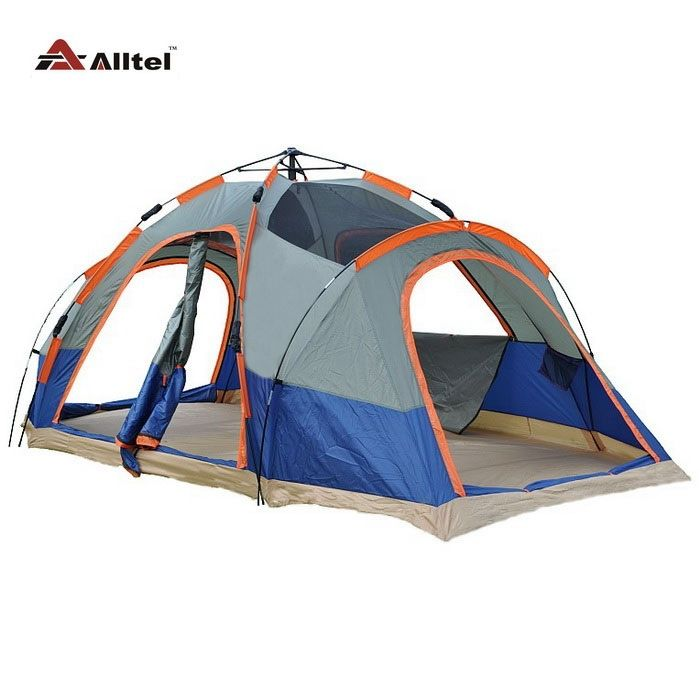 83.34$  Buy now - http://alieyt.worldwells.pw/go.php?t=32480354993 - 6-8 person 2 bedroom automatic speed to open 2 layer anti rain large family party beach fishing hiking outdoor camping tent 83.34$