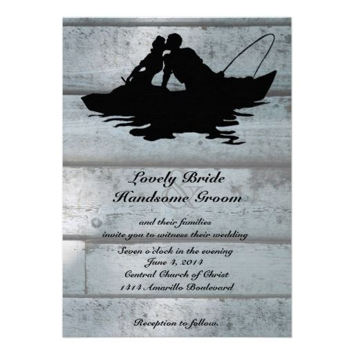 27 best melissa 39 s invitations images on pinterest for Fishing wedding invitations