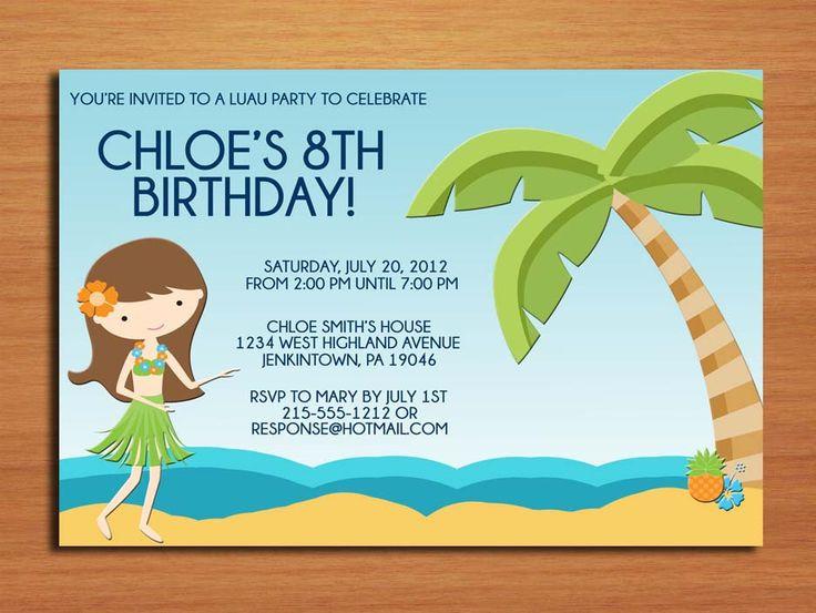 Nice Birthday party Invitations Wording Samples