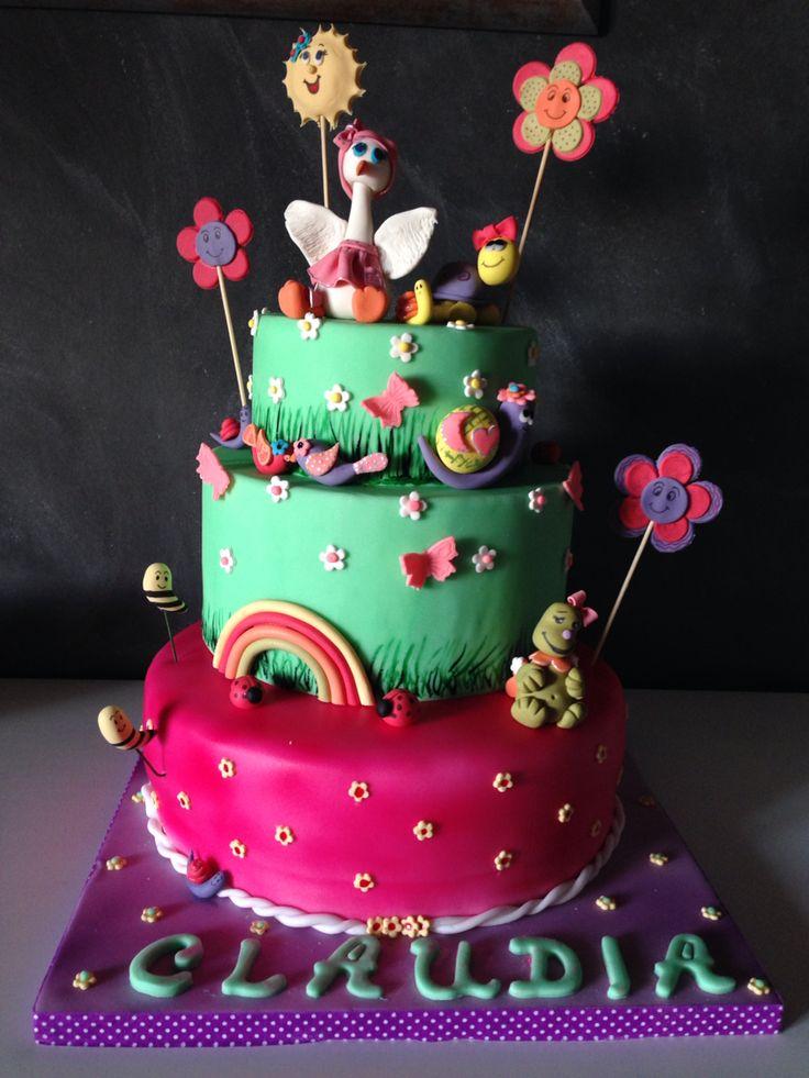 First birthday cake. Puppy cute animals