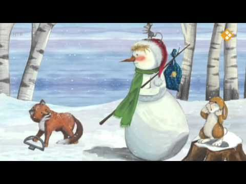 Sneeuwman op zoek naar kerst