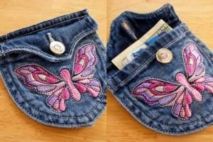 Purse with applique by paulaqwest