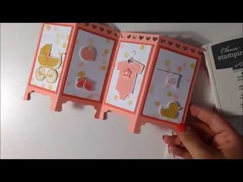 Stampin' Up! Silk Screen/Room Divider Baby Card
