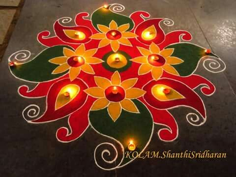 Beautiful kolam