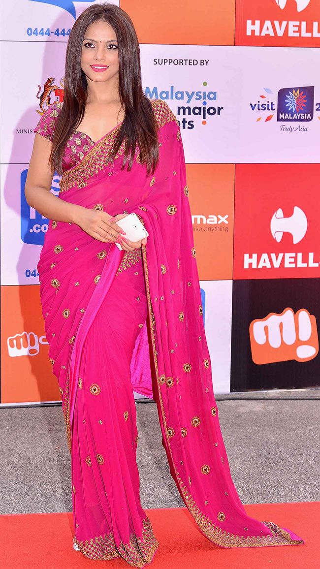 Neetu Chandra at SIIMA Awards 2014.