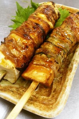 【焼き鳥屋の裏メニュー】豆腐の豚バラ巻き