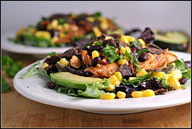 The Best BBQ Chicken Salad   Weekly Menu - make oil and vinegar dressing?
