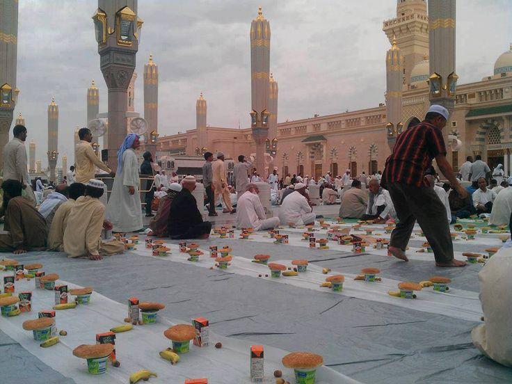 The World Largest Iftar Site Madinah Munawwarah, Saudia Arabia