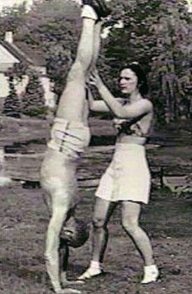 Joseph Pilates with Mary Pilates. #Pilates