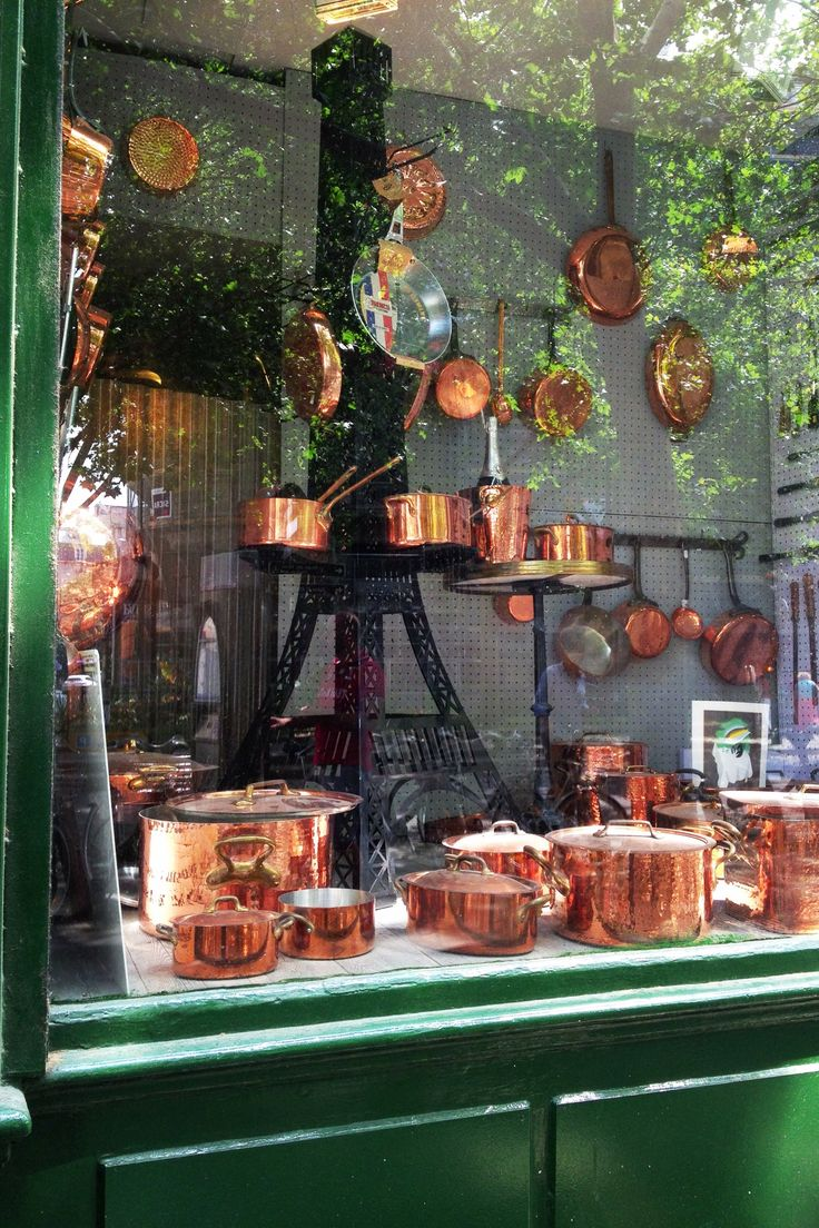 Dehillerin, Paris. The best source for cookware in the world. Their copper pots are amazing!