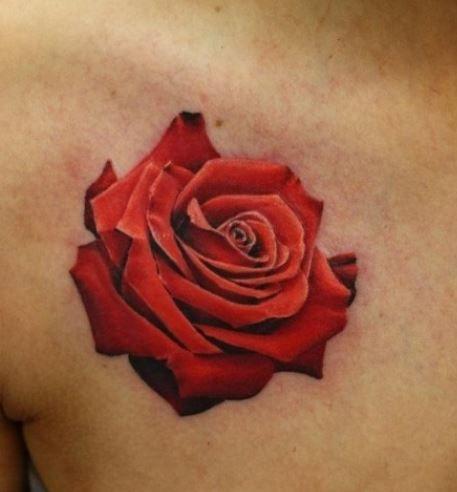 tatuaggio rosa 3D