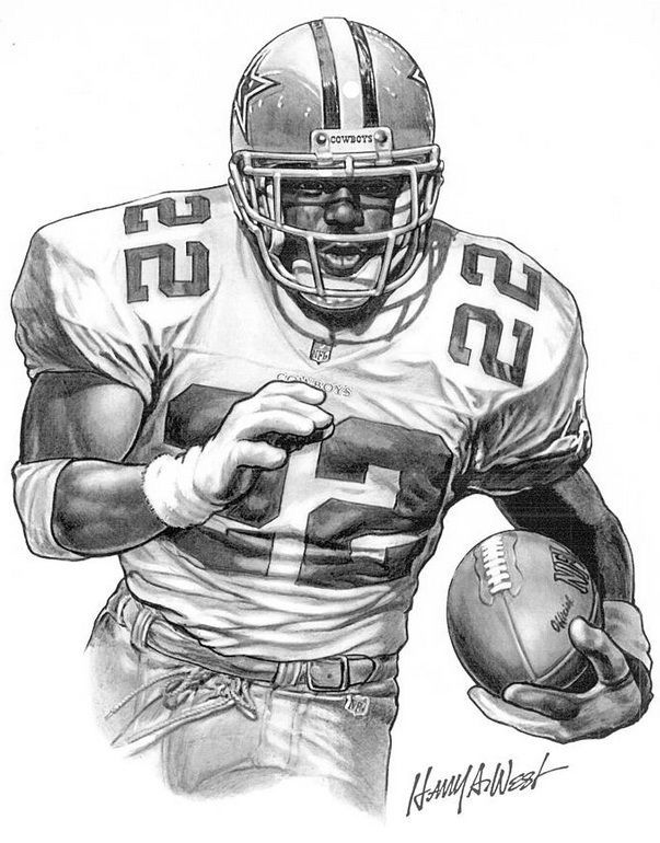 Celebrities posters emmitt smith poster by harry west