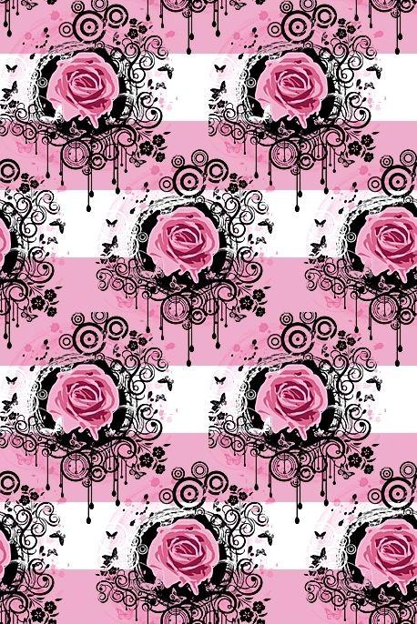 Floralls art backgrounds tiles textures pinterest for Schwarze mustertapete