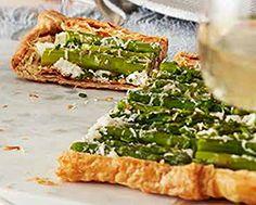 Asparagus and Tarragon-Goat Cheese Tart