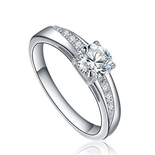 Sale Preis: AI Stainless Steel Jewelry Damen-Solitär-Ring Edelstahl runde Cubic Zirkonia Silberfarben. Gutscheine & Coole Geschenke für Frauen, Männer & Freunde. Kaufen auf http://coolegeschenkideen.de/ai-stainless-steel-jewelry-damen-solitaer-ring-edelstahl-runde-cubic-zirkonia-silberfarben