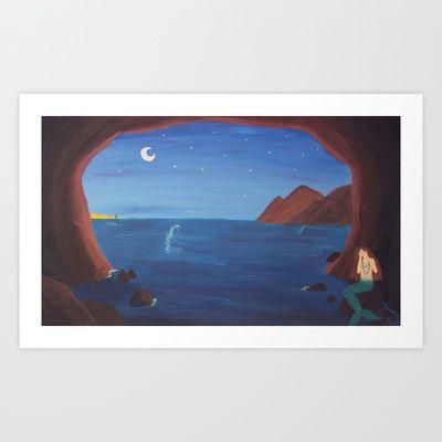A Mermaid's Broken Heart Art Print by Sheridan van Aken - $22.88