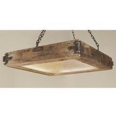 rustic rectangular flush mount lighting - Google Search