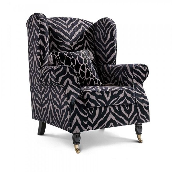 Zebra Accent Chair Wing Chair Chair Accent Chairs