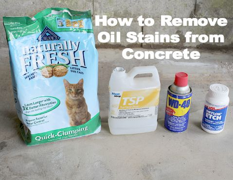 Discover how to remove oil stains from concrete stains for Concrete cleaner oil remover