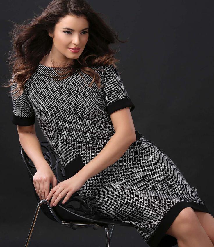 Perfect dress for a comfy feeling #dress #cotton #black #white #casual #yokko