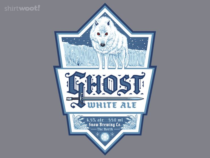 Books are the smart person versions of television shows,     Ghost White Ale - Men's Small for $12