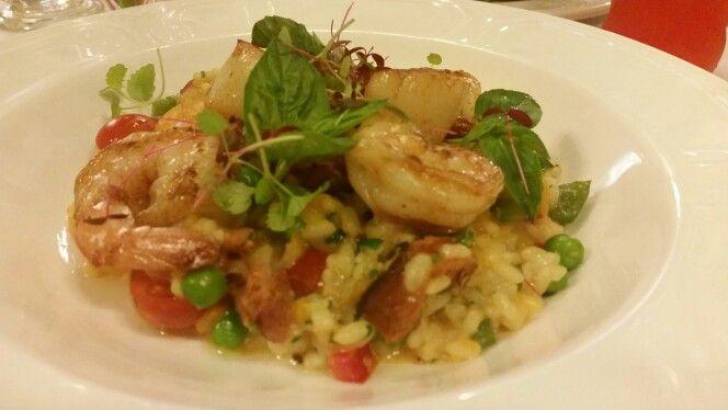 Seafood Rizzoto @ Hopetoun Tearooms