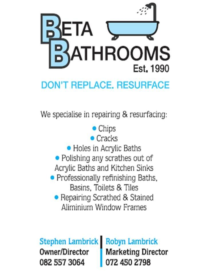 If your bath is damaged in any way - don't remove it.  It can be saved.  We never give up on a bath, basin or toilet even - we resurface it - saving the planet one bath at a time.  www.betabath.co.za  info@betabaths.co.za