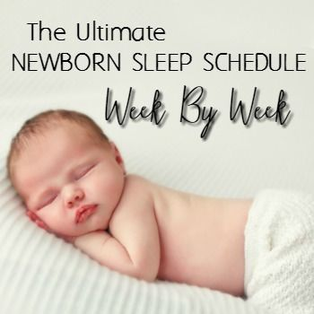 A newborn routine or schedule that worked with my babies (5 different personalities) and is guaranteed to help your baby get more sleep and be less fussy.