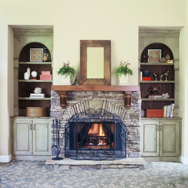 We provide a full measuring and design service for. Image result for stone fireplace with built in wood ...
