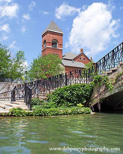 Along the Wabash River, Indianapolis Canal Walk, Indiana. Take a stroll down the beautiful Canal Walk located in downtown Indianapolis.