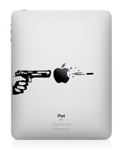 Guns and bullets   iPad Decal iPad Stickers iPad by HappyDecal, $6.99
