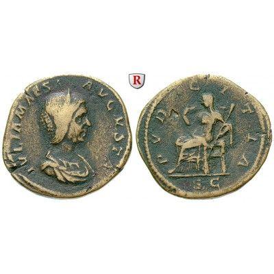 Römische Kaiserzeit, Julia Maesa, Großmutter des Elagabal, Sesterz 218-220, f.ss: Julia Maesa, Großmutter des Elagabal +225.… #coins