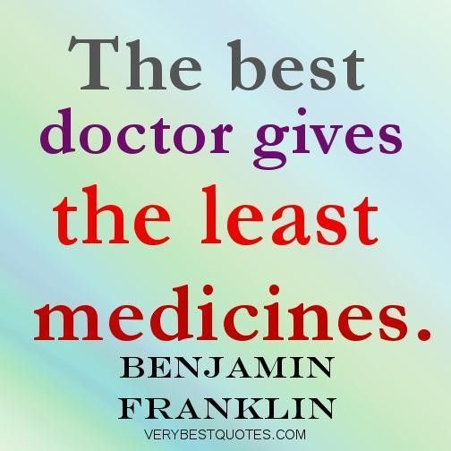 Medicine quotes the best doctor gives the least medicines..