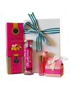 Sugar and Spice She'll love this hamper, with perfume and body butter by MOR, and a selection of sweet treats.