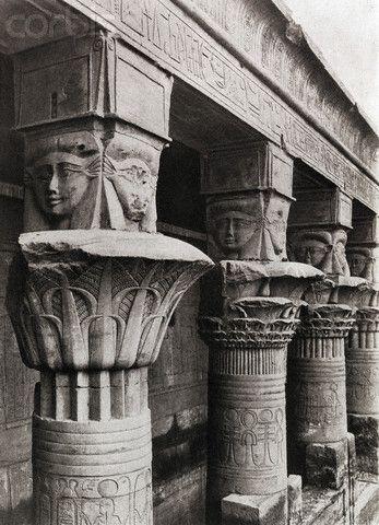 Columns, Temple of the Het-Heru (Hathor) at Philae