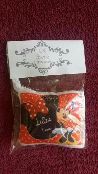 04abd4d1a Almochaveiros personalizados lembrancinhas para festa infantil minnie  Vermelha Lk Store
