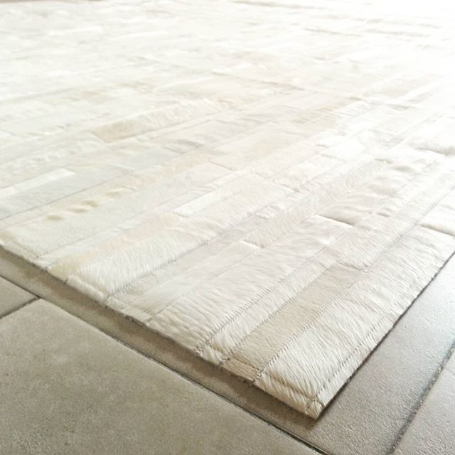 white monday patchwork cowhide area rug 252 strips and stripes shineloves hair