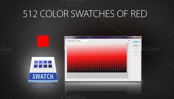 Great 512 color swatches of red