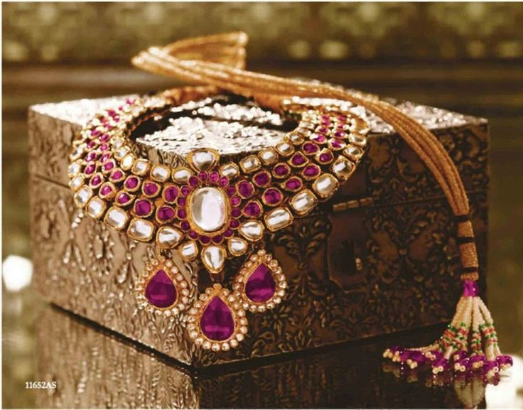 Tanishq Ruby Diamond Kundan Wedding width=