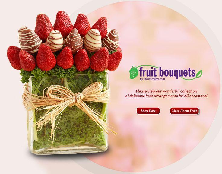most beautiful flower arrangements | Fruit Bouquets, Chocolate Covered Fruit, Fruit Baskets | FruitBouquets ...