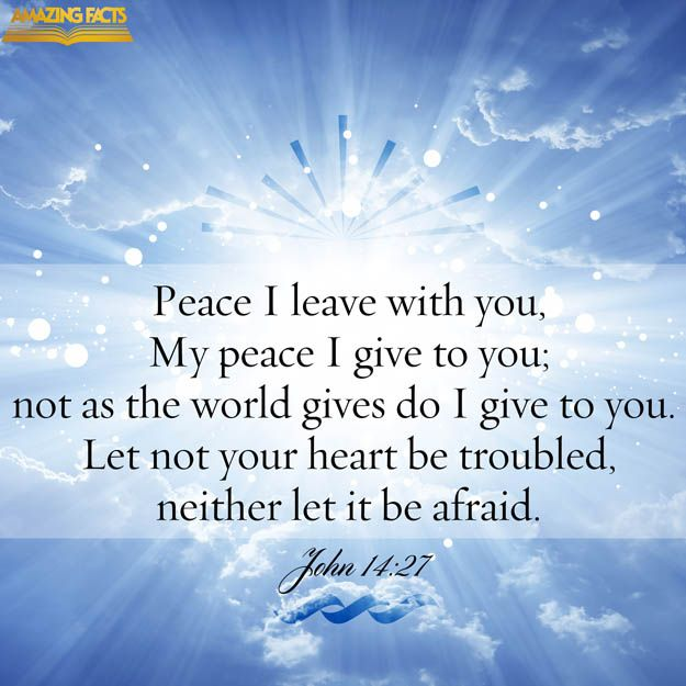 Bible Am Going To Deliver You: Peace I Leave With You, My Peace I Give Unto You: Not As