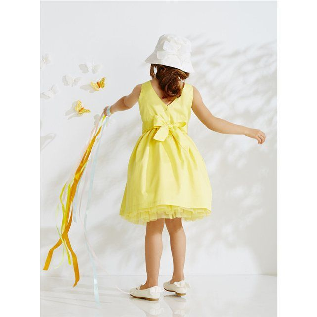Cotton Satin Special Occasion Dress