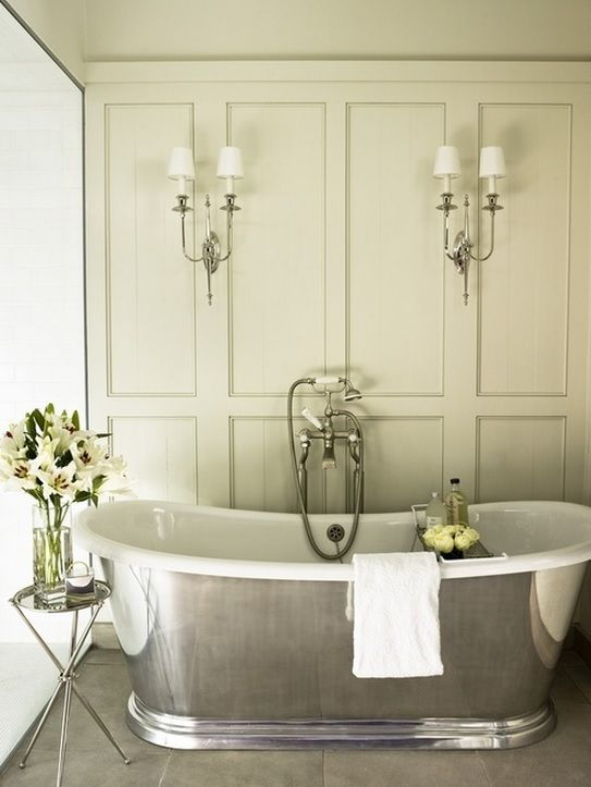 Bathroom paneling can look good instead of tongue and groove For more ideas visit our website www.niche-living.co.uk More