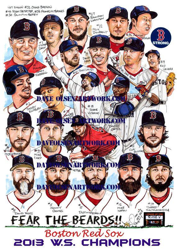 2013 World Series Champions Boston Red Sox by DaveOlsenArtwork, $15.00