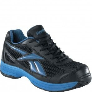 RB1620 Reebok Men's Cross Trainer Safety Shoes - Black/Blue www.bootbay.com