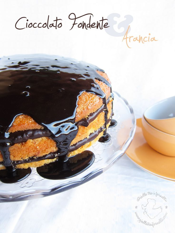 orange & dark chocolate cake - torta arancia e cioccolato fondente