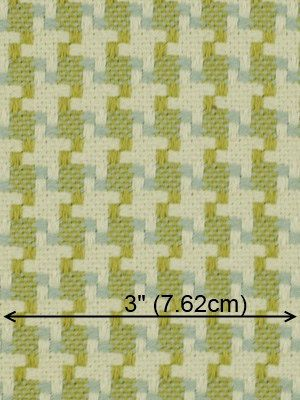 Light Blue Houndstooth Upholstery Fabric By By Greenapplefabrics