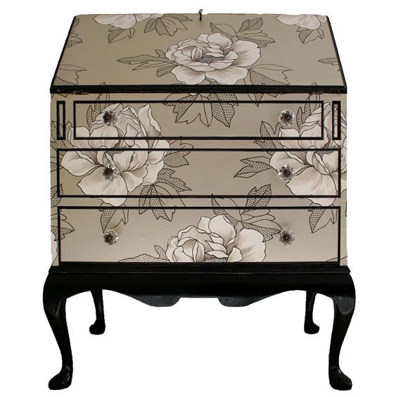 Bryonie Porter's Wallpaper Furniture Silver Bureau By Bryonie Porter Osborne  Little – Painted Furniture